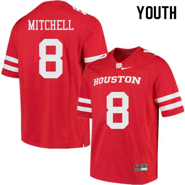 Youth #8 Davion Mitchell Houston Cougars College Football Jerseys Sale-Red